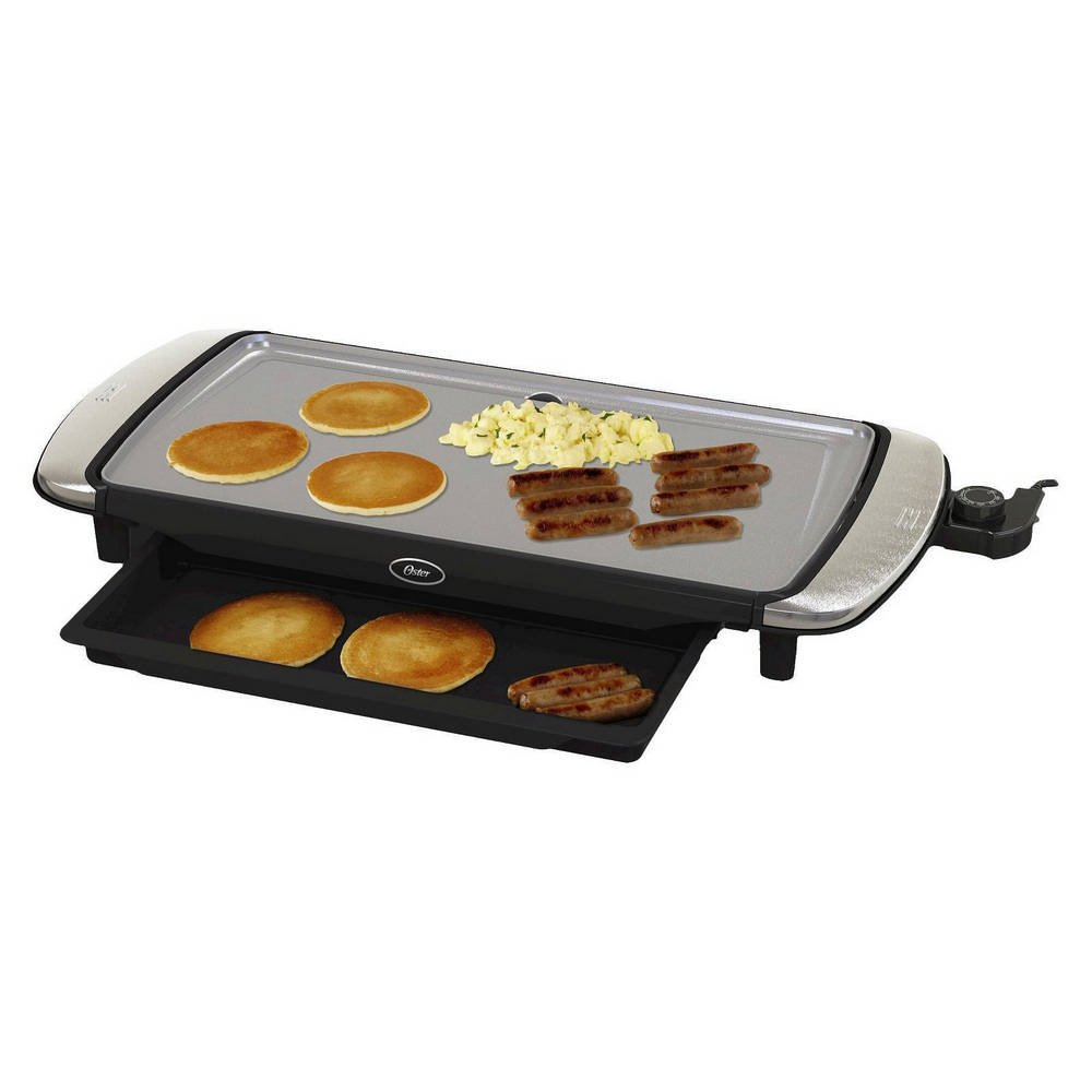 "Oster DuraCeramic 10"" x 20"" Electric Griddle w/Warming Tray"