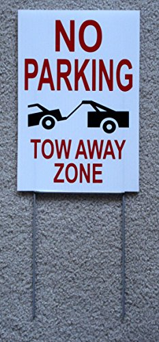1-Pcs Indefectible Popular No Parking Tow Away Zone Sign Park Message Outdoor Yard Warning Decal Size 8
