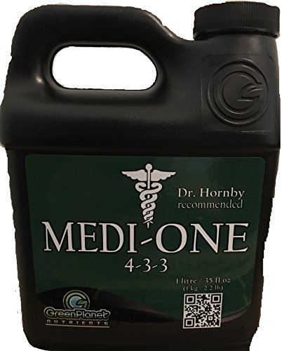 (Green Planet Nutrients - MEDI-ONE (1 Liter) One Part, Start to Finish, All Natural Organic Garden Nutrient)