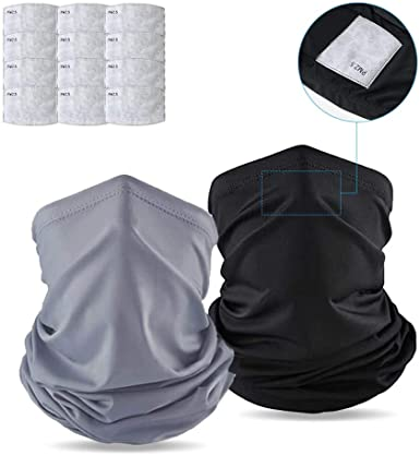 Yqxcc 4 Pcs Neck Gaiter Visage Couverture Écharpe Avec 20 pcs sécurité filtres à charbon