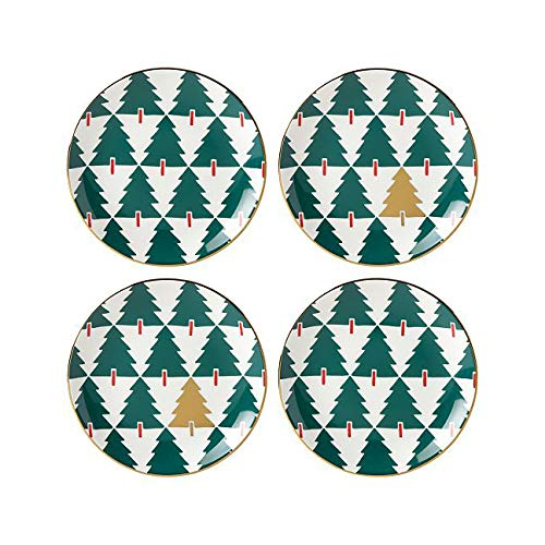 Kate Spade New York Pine Place Tidbits Plates, Set of 4