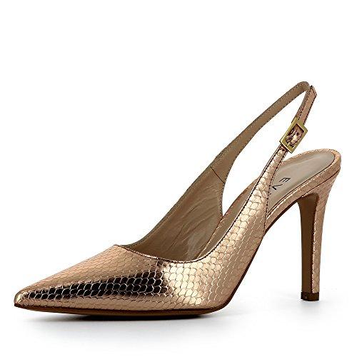 Evita de Piel Zapatos Natalia altrosa mujer vestir de Shoes para vvSqO6