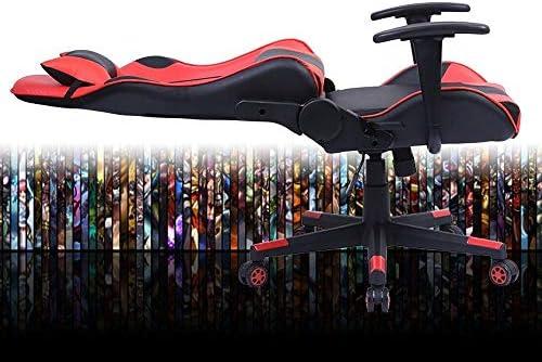 WJHCDDA Chaise Bureau Jeu Chaise de Bureau Ergonomique pivotant PC Fauteuil de Bureau Ordinateur Sieges Heavy Duty Reclining Haut avec Coussin Lombaire