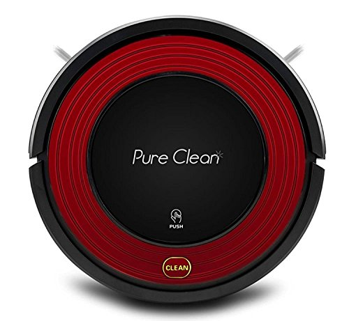 PureClean Robot Vacuum Cleaner with Programmable Self Activation and Automatic Charge Dock – Robotic Auto Home Cleaning for Clean Carpet Hardwood Floor – HEPA Pet Hair & Allergies Friendly – PUCRC95