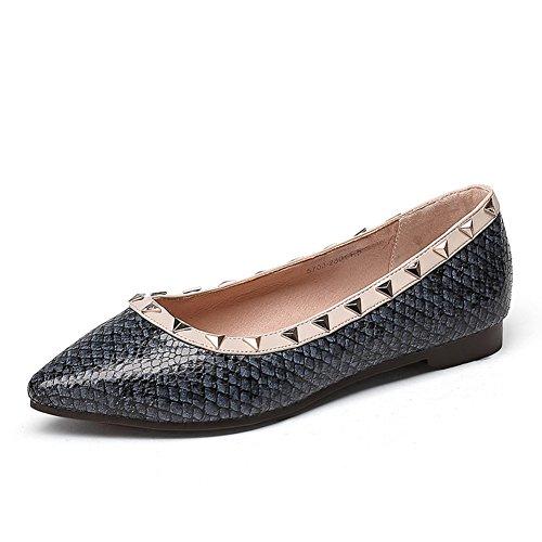 Zapatos de otoño/Zapatos de mujer/ Versión coreana de los zapatos puntiagudos/Asakuchi baja zapatos casual fashion A