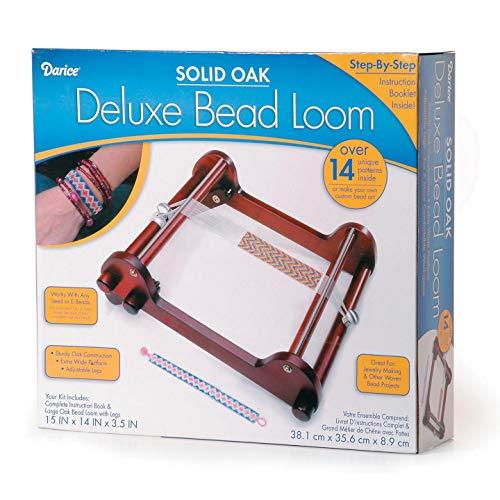 Bulk Buy: Darice DIY Crafts Deluxe Bead Loom Solid Oak 15 x 14 x 3.5 inches (3-Pack 1100-97