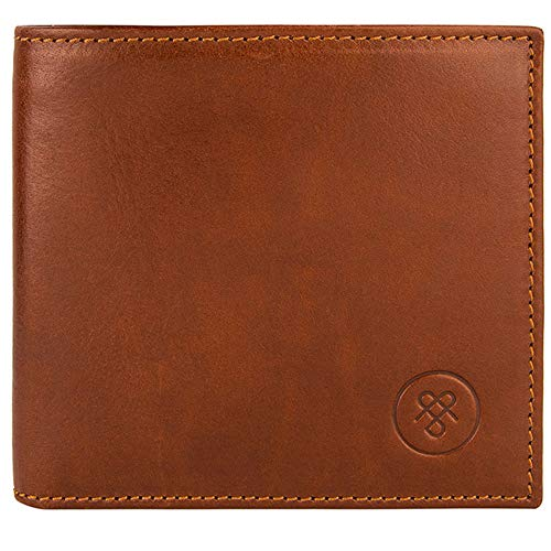 - Maxwell Scott Quality Men's Billfold Leather Wallet - Vittore Tan