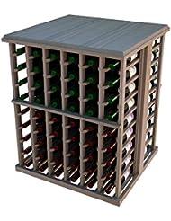 Designer 108 Bottle Tasting Table Prime Mahogany Unstained