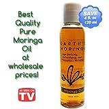 Moringa Oil 120ml 4oz **Special $9.99** 100% All Natural Moringa Oleifera Pure Seed Oil, Health Care Stuffs