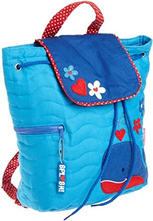 Stephen Joseph Little Girls'  Quilted Backpack, Whale, One Size