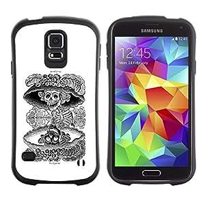 Paccase / Suave TPU GEL Caso Carcasa de Protección Funda para - Nuclear Skull Death Black White Rock - Samsung Galaxy S5 SM-G900