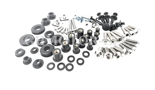 Black GHMotor Fairings Bolts Screws Fasteners Kit Set Made in USA for 2007 2008 KAWASAKI ZX6R ZX-6R 636