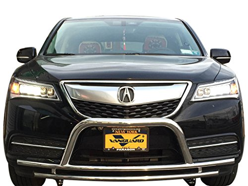 Vanguard VGFDL-1284SS Compatible with Acura MDX 2014-2019 Bumper Guard Stainless Steel Front A Bar with Dual Layer
