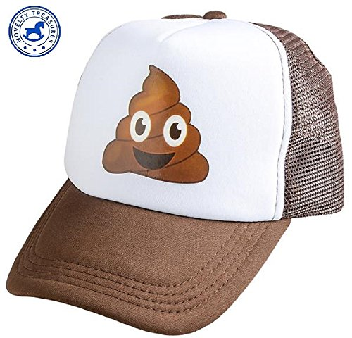 Brown Emoji Poop Trucker Cap