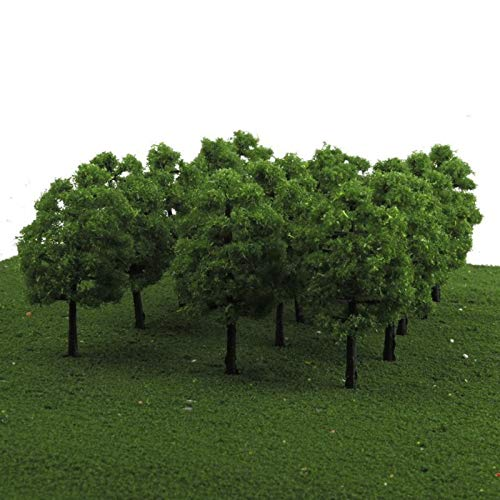 Mystear HO OO Scale 1:100 Model Trees Train Railroad Diorama Wargame Park Scenery 50PCS