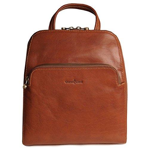 - Gianni Conti Women's Bergamo Leather Backpack One Size Cognac