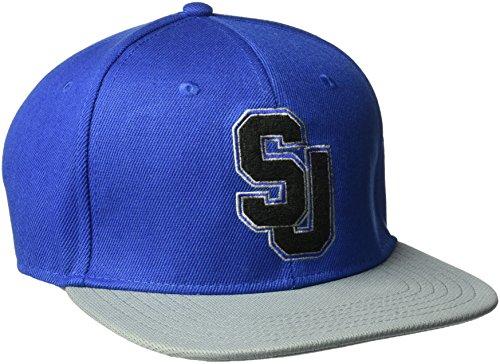 Sean John Men's Chenille Jersey Baseball Cap, Embroidered Logo, Royal Chenille, One Size