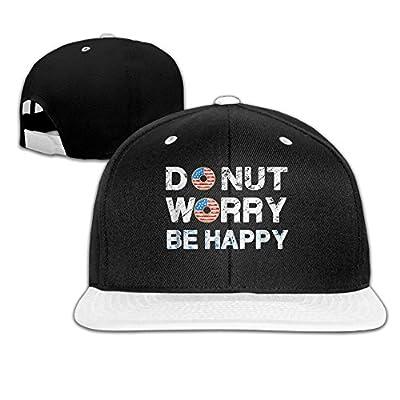 Rock Punk Trucker Hat Donut American Flag Unisex Baseball Cap Hip-hop Snapback White