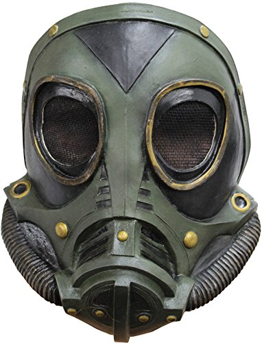 M3A1 Military Style Gas Mask Green Latex Zombie Apocalypse Costume Accessory New -