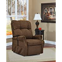 Medlift 1153-DBR Dawson Three-Way Reclining Lift Chair, Brown