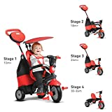 smarTrike 4-in-1 Cruise Tricycle, Red