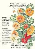 Alaska Variegated Nasturtium Heirloom Seeds 25 Seeds