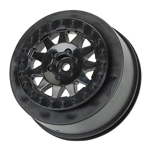 (Pro-Line Racing 273903 F-11 +3 Offset 2.2/3.0 Wheels SC Trucks, Black (2))