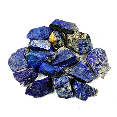Crystal Allies Materials: 1lb Bulk Rough Lapis Lazuli Stones from Afghanistan - Large 1 + Raw Natural Crystals for Cabbing, Cutting, Lapidary, Tumbling, and Polishing & Reiki Crystal Healing *Wholesale Lot*
