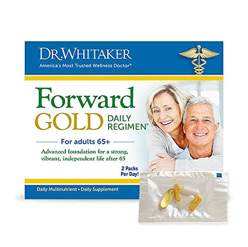 Dr. Whitaker's Forward Gold Daily Regimen Multi-Nutrient Vitamin Supplement for Adults 65+, 60 Packets (30-Day Supply) (Nutrients 60 Packets)