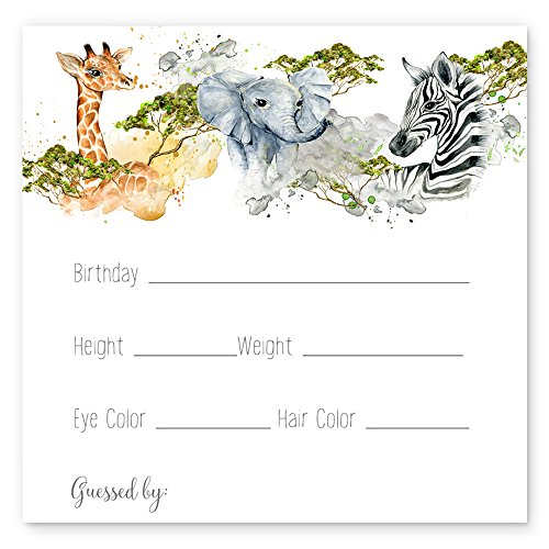 Jungle Predictions for Baby Cards Set of 25