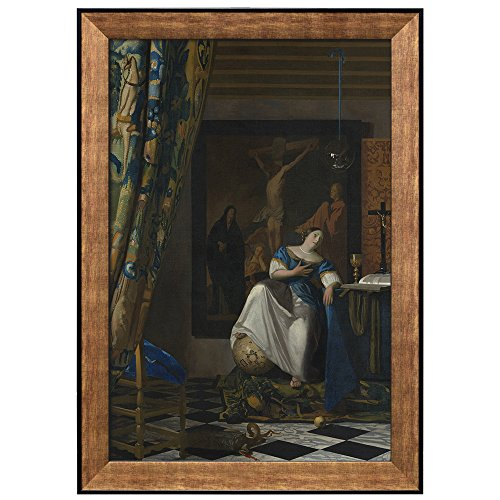 The Allegory of Faith by Johannes Vermeer Framed Art