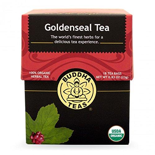 Goldenseal Tea Bags (Goldenseal Tea - Organic Herbs - 18 Bleach Free Tea)