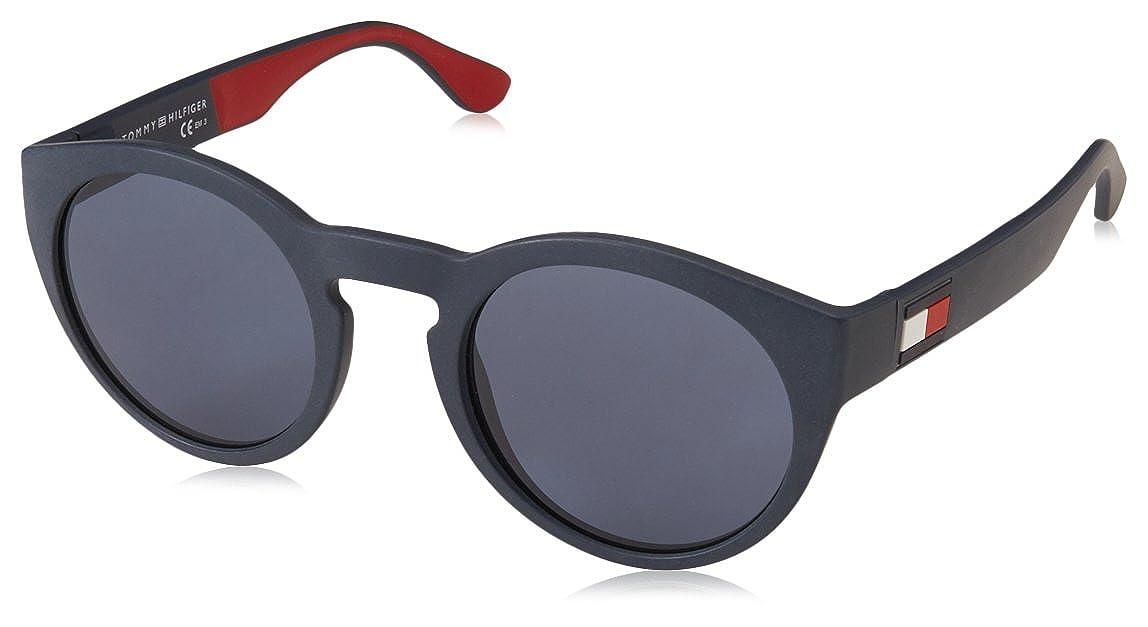 Tommy Hilfiger TH 1555/S Gafas de Sol, Multicolor (BL REDWHT), 49 para Hombre