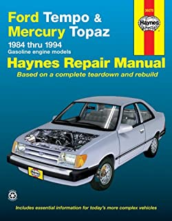 Ford tempo and topaz 1984 94 chilton total car care series ford tempo mercury topaz 8494 haynes repair manuals fandeluxe Choice Image