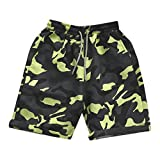 NUWFOR Men's Summer Shorts 100% Cotton Casual Camouflage Printed Beach Shorts Pants (Camouflage,US S Waist:32.28'')