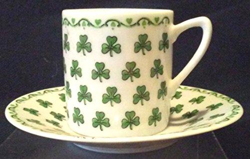 Floral Demitasse Cup - Shamrock Demitasse Tea Cup, Petite Tea Cup Expresso Cup, Shamrock Tea Cup