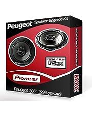 206 CC Voordeur Speakers Pioneer Auto Speakers 300W