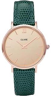 CLUSE Reloj Analógico para Mujer de Cuarzo con Correa en Cuero CL30052