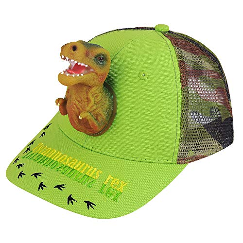 Boy's Sun Hats 3D T-rex Dinosaur Baseball Trucker Caps Cotton Mesh Camo Summer Hats Cute Funny Animal Adjustable Unisex Sports Outdoor Hip Hop Snapback - For Animal Kids Hats