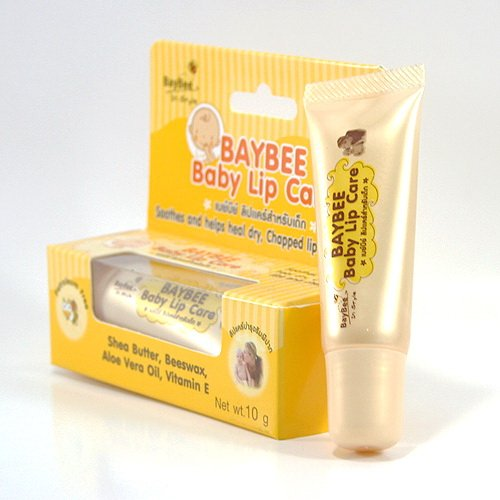 Kissy Lips Lip Balm - Baybee , Petroleum Free Baby Lip Care (0.35 Oz tube) ,10g , Petroleum free , Soothes and helps heal dry , Chapped lips and cheeks , Ingredient of Shea Butter , Beeswax , Aloe Vera Oil and Vitamin E