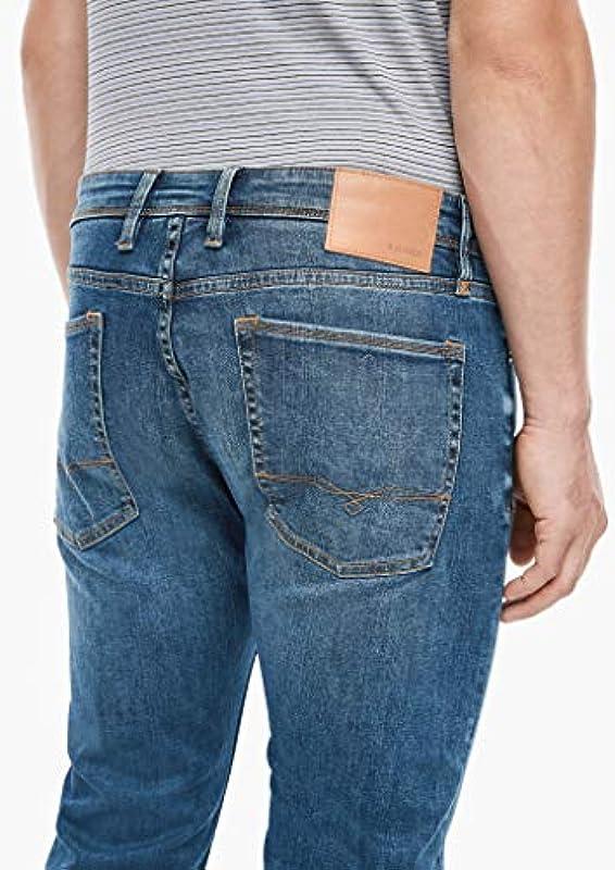 s.Oliver męskie dżinsy slim fit: stretch z spraniem - Jeansy 31: Odzież