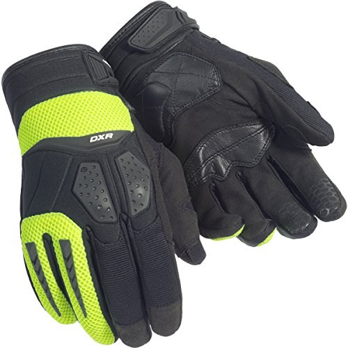 - Cortech DXR Adult Street Bike Motorcycle Gloves - Black/Hi-Viz Yellow/Medium