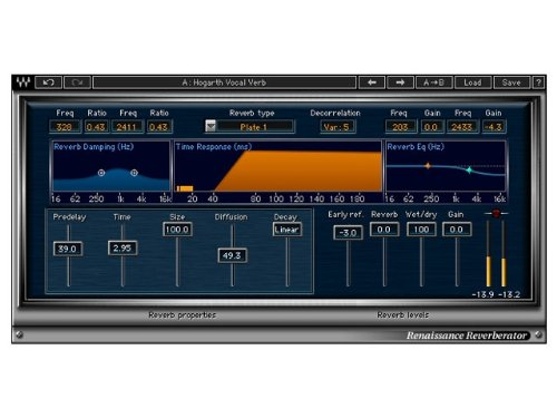 Waves Renaissance Reverb | 12 Reverb Plugin Software Download Only (Best Waves Reverb Plugin)