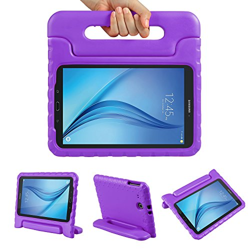 Color Our Life Samsung Galaxy Tab E 9.6 Kiddie Case-Shock Proof Light Weight Convertible Handle Stand Cover for Samsung Galaxy Tab E 9.6 Inch Tablet, Purple (Tab Covers Samsung Galaxy Light)
