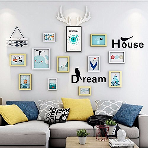WUXK The Nordic watch photo wall decoration living room wall photo frame wall creative personality combination wall photo frame photo Wall 4 by WUXK