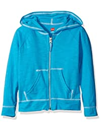 Hanes Girls Slub Jersey Full Zip Jacket