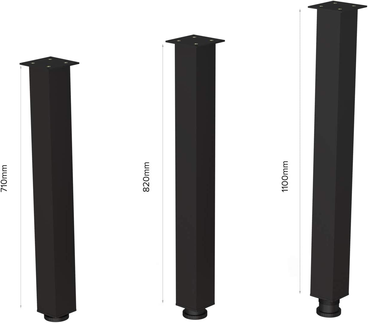 Gambe Tavolo Regolabili Set Gambe Tavolo Kit Di 4 Piedi Gambe Per Tavolo Altezza Regolabile 710 mm Accessori di Montaggio Inclusi