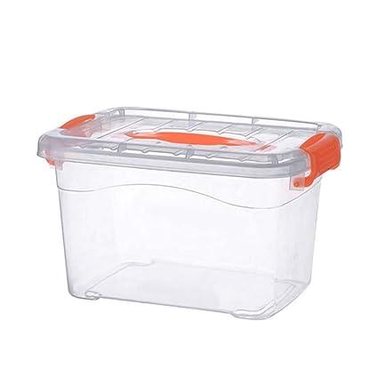 Con Mango Caja de almacenamiento Caja de almacenamiento transparente Caja de almacenamiento Caja de plástico Caja