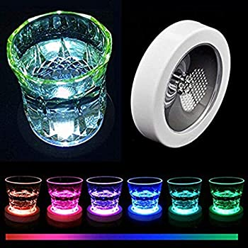 Mats & Pads E-show Round Shape Led Coaster Light Up Bottle Cup Mat Light Flash Cup Mat Home Party Club Bar Supply