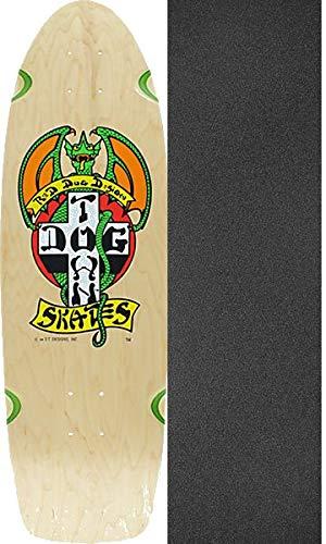 Dogtown Skateboards OG Classic Red Dog Naural/Green Skateboard Deck - 9